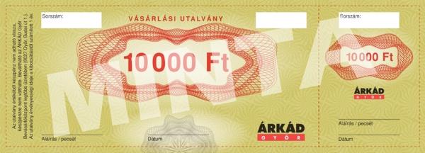 ÁRKÁD Győr Vásárlási utalvány