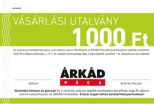 ÁRKÁD Pécs Vásárlási utalvány