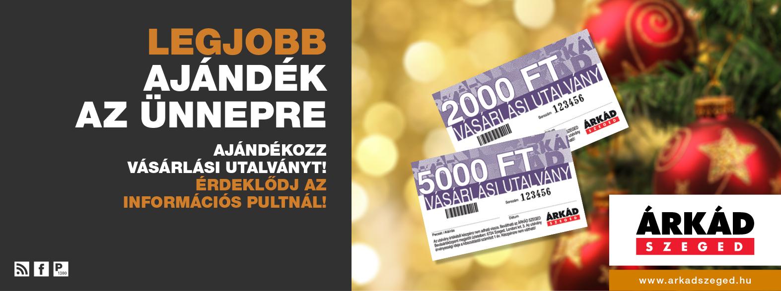 ÁRKÁD Szeged Vásárlási utalvány